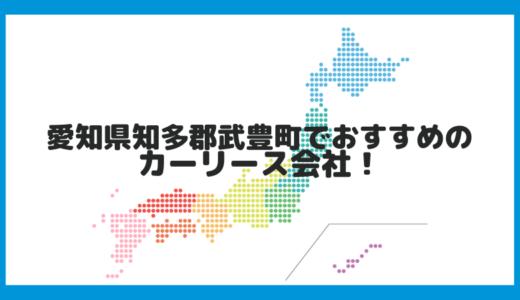 愛知県知多郡武豊町でおすすめのカーリース会社!