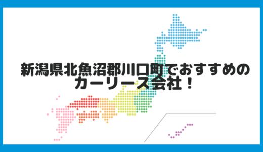 新潟県北魚沼郡川口町でおすすめのカーリース会社!