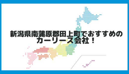新潟県南蒲原郡田上町でおすすめのカーリース会社!