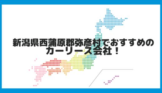 新潟県西蒲原郡弥彦村でおすすめのカーリース会社!