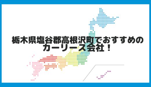 栃木県塩谷郡高根沢町でおすすめのカーリース会社!