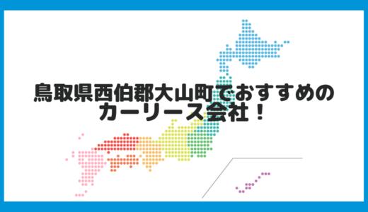 鳥取県西伯郡大山町でおすすめのカーリース会社!