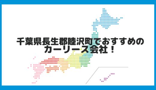 千葉県長生郡睦沢町でおすすめのカーリース会社!