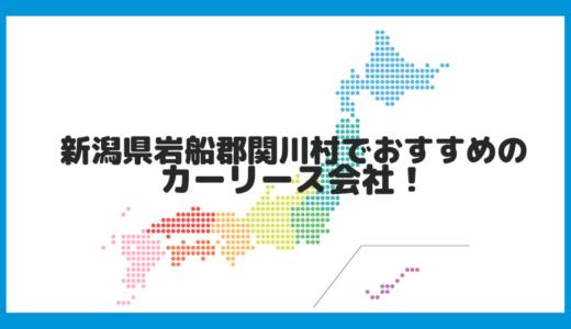 新潟県岩船郡関川村でおすすめのカーリース会社!