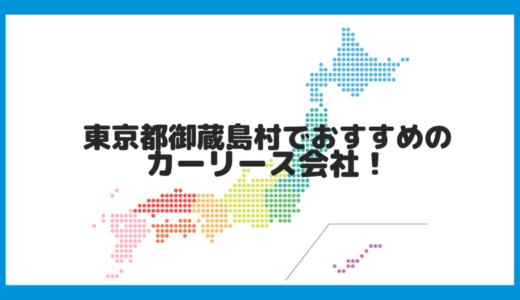 東京都御蔵島村でおすすめのカーリース会社!