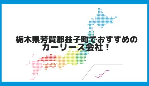 栃木県芳賀郡益子町でおすすめのカーリース会社!