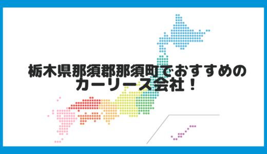 栃木県那須郡那須町でおすすめのカーリース会社!