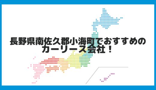 長野県南佐久郡小海町でおすすめのカーリース会社!